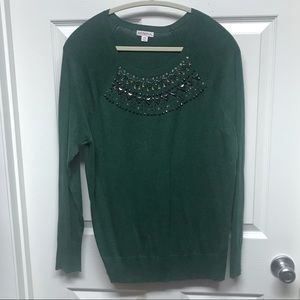 Sparkly green sweater